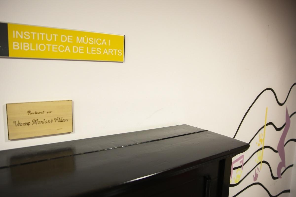 Entrada de l'Institut de Música, a la 4a planta de la Llacuna.