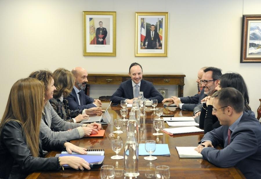 Primera reunió del grup interministerial per reactivar el pla el febrer del 2020.