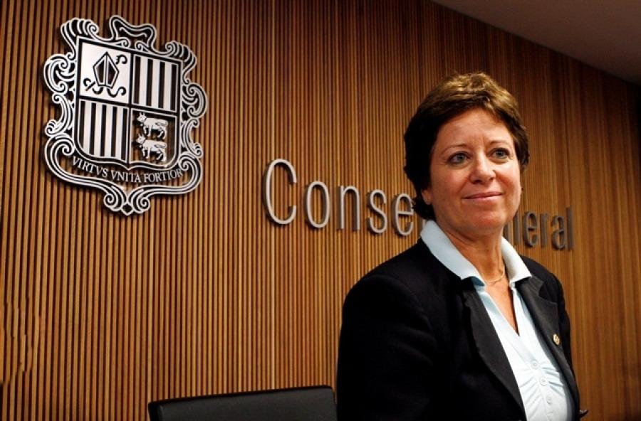 Rodríguez, quan va exercir com a ministra de Salut, en el primer mandat de Toni Martí.