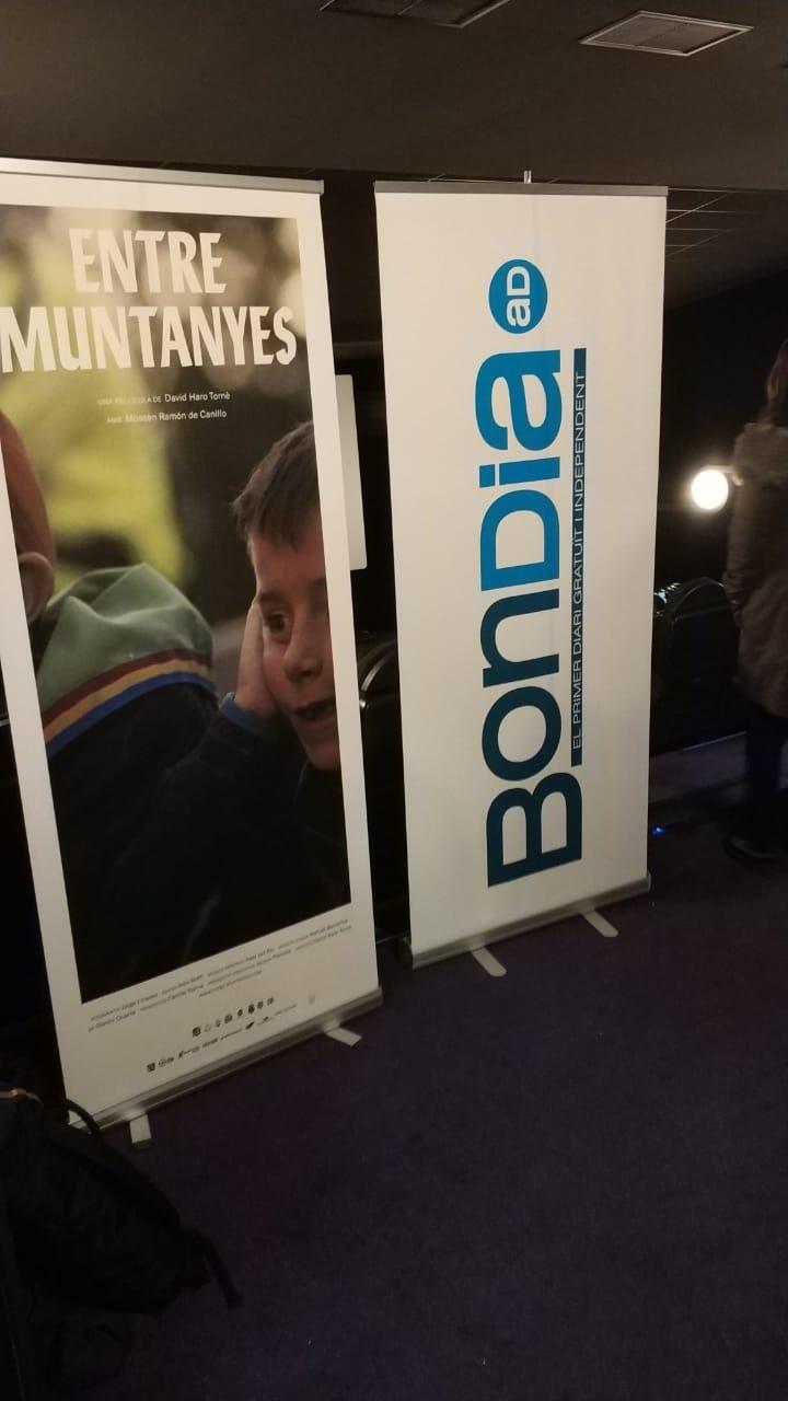 El cartell de la pel·lícula als cines Illa, on es va projectar ahir.