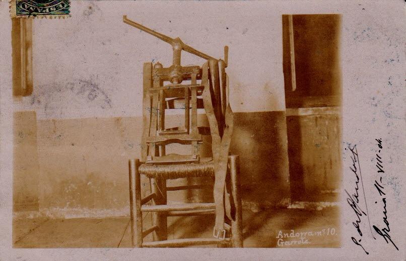 La postal autografiada per Guillem de Plandolit i datada el 14 d'agost del 1904.