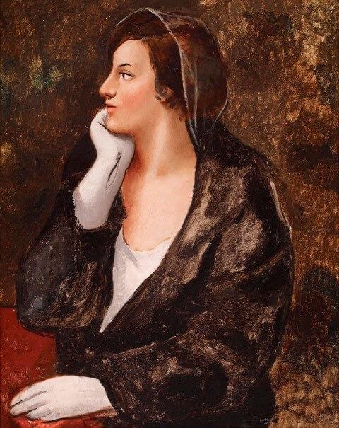 Andorra, Crèdit Andorrà, fons d'art, Rusiñol, Casas, Pere Pruna, Dama con guante blanco, portes obertes,