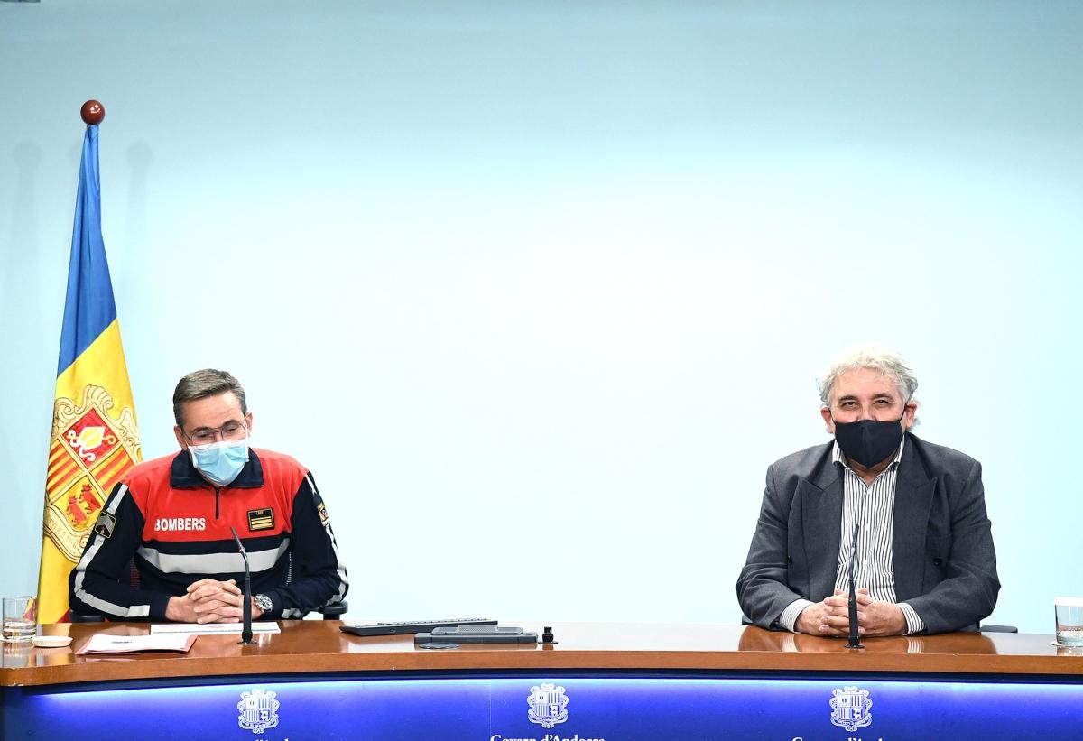 Jordi Farré i Jordi Galobardas en la roda de premsa d'ahir.
