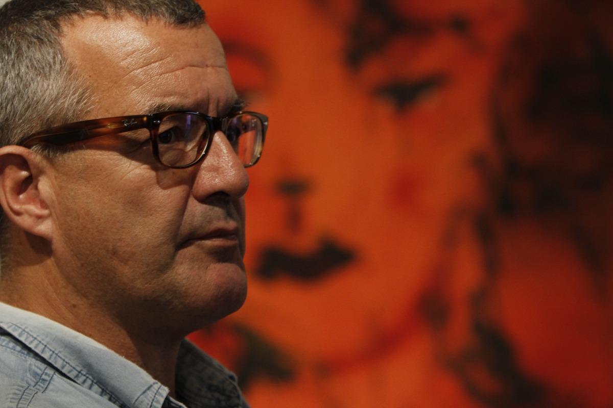 El pintor català, en l'exposició que el 2014 va protagonitzar a la galeria Riberaygua.