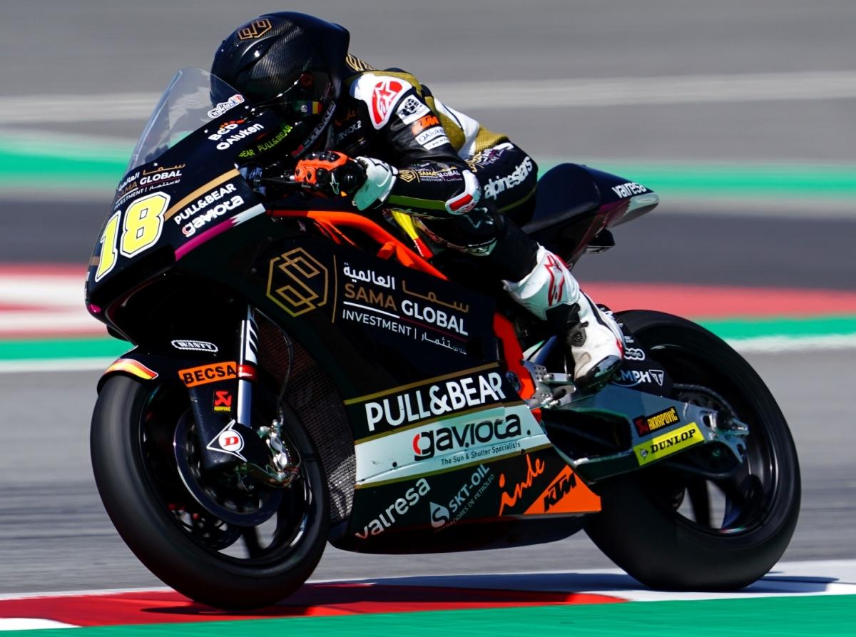 Xavi Cardelús rodant ahir al Gran Premi del Circuit de Catalunya.