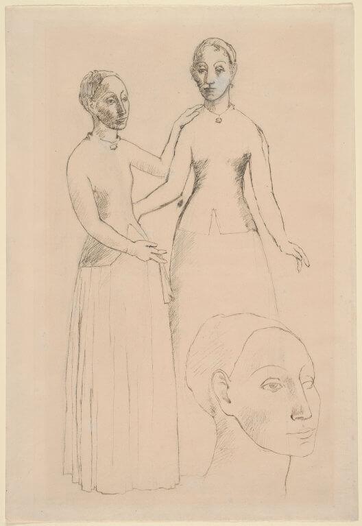 'Paysannes d'Andorre', de Picasso (llapis i tinta sobre paper, 1906).