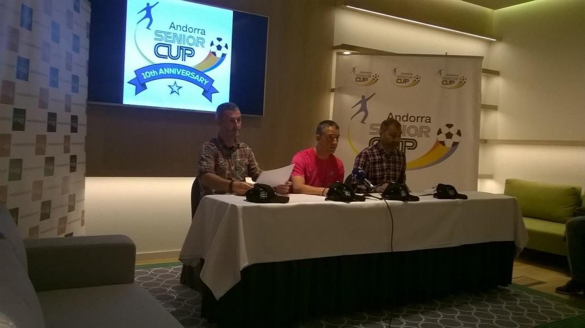 Nagore, Puyaltó i Sonejee van presentar ahir la desena Andorra Senior Cup.