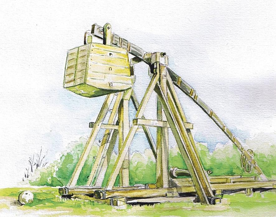 El trabuquet era l'arma més temible de l'artilleria medieval, i podia decidir al seu favor el setge a una ciutat emmurallada.