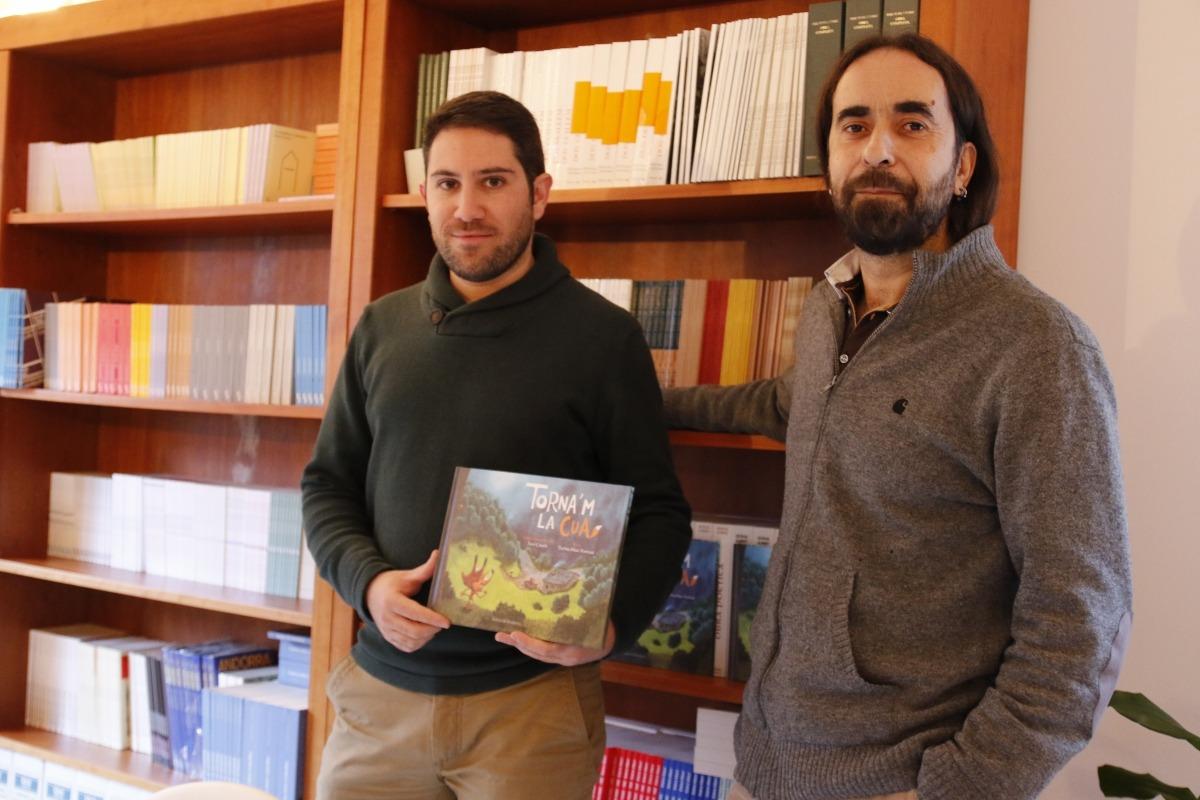 Andorra, Editorial Andorra, Torna'm la cua, Xavi Casals, Txema Díaz-Torrent, conte il·lustrat, llibre, il·lustració, guineu, caçador
