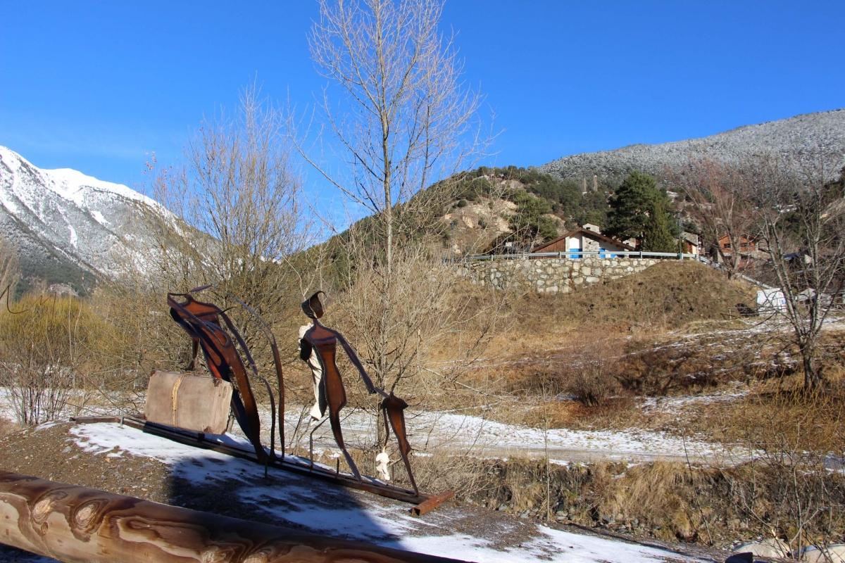 Andorra, Ordino, Sornàs, Didier Aleix, escultura, Fent cap al Coll, biennal de land art