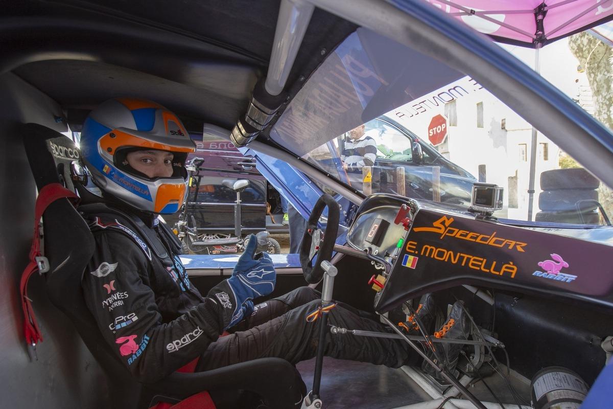 Edgar Montellà amb el seu Speed Car GT-R abans d'iniciar la prova d'Arenys de Munt.