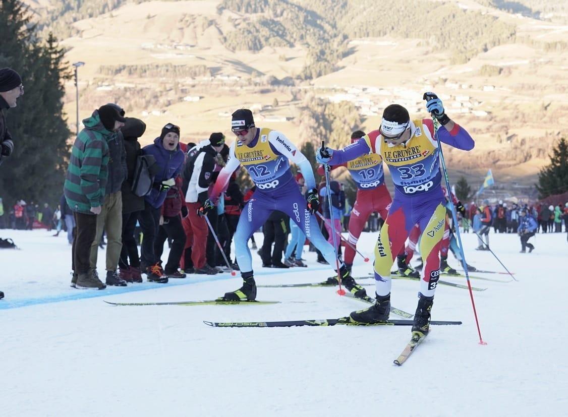 Irineu Esteve en una de les cites del Tour de Ski.