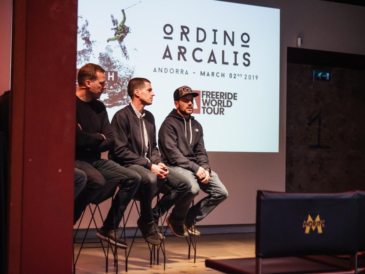 Un moment de la presentació de la prova andorrana del Freeride World Tour a Barcelona.