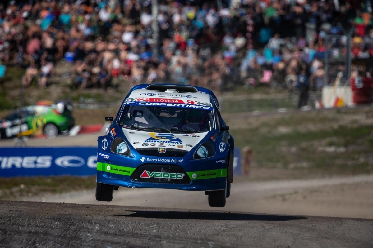 Albert Llovera en un moment de la prova disputada al circuit de Höljes.