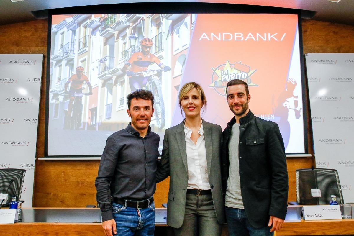 'Purito' Rodríguez, Anna Olsina i Oliver Avilés després de la presentació de l'equip.