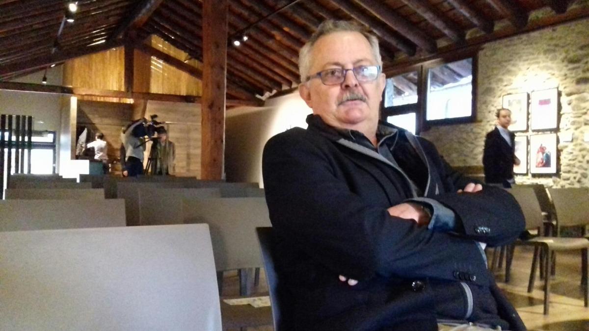 Vilanova, assessor de la Carta Magna, exmagistrat i expresident del Constitucional, i representant d'Andorra a la Comissió de Venècia, ahir a l'Era d'Ordino.
