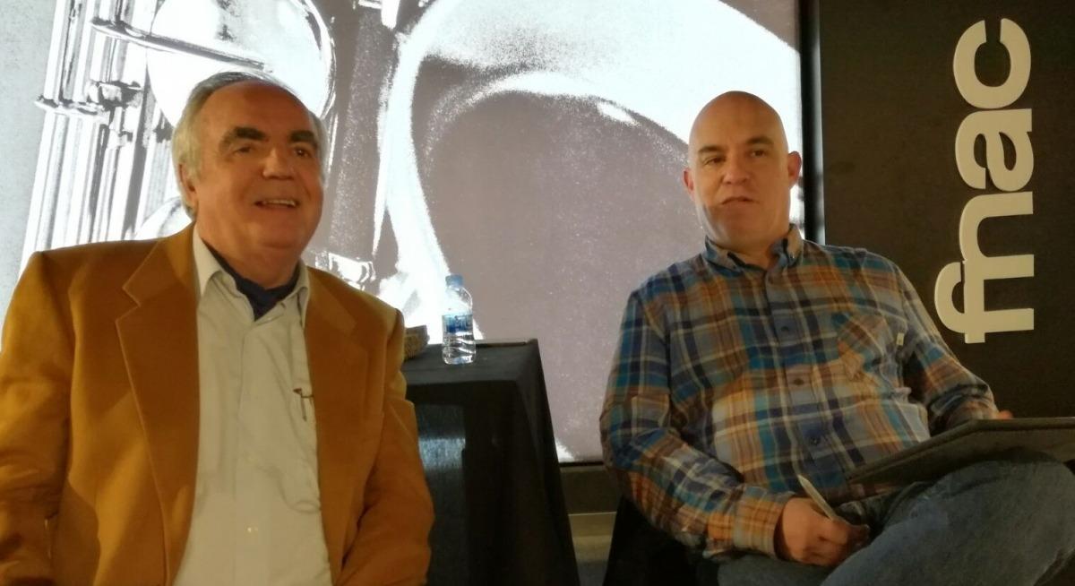 Fite i Villaró, al desembre en la presentació d''Escacs d'amor i de mort' al Fòrum FNAC.