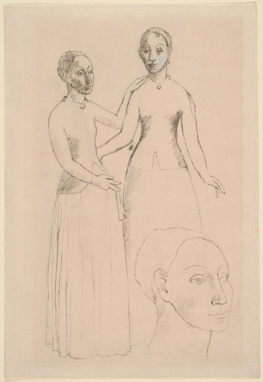 Andorra, Picasso, Pageses d'Andorra, Conxita Boncompte, cubisme, Dues dones nues, Les senyoretes d'Avinyó