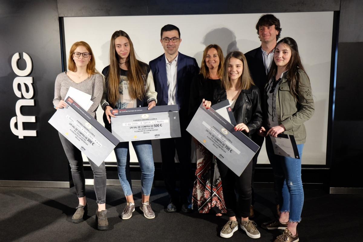 Els guanyadors de la 3a edició del concurs RECcrea de curtmetratges.