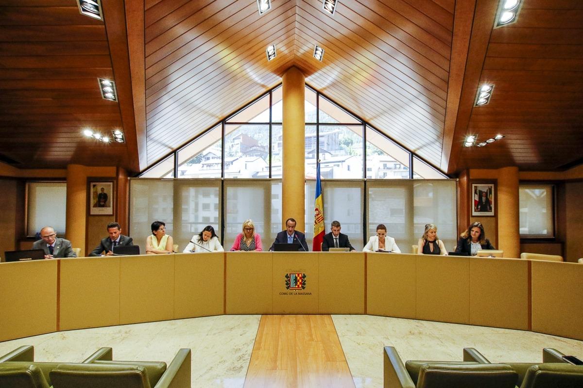Una sessió del Consell de Comú de la Massana.