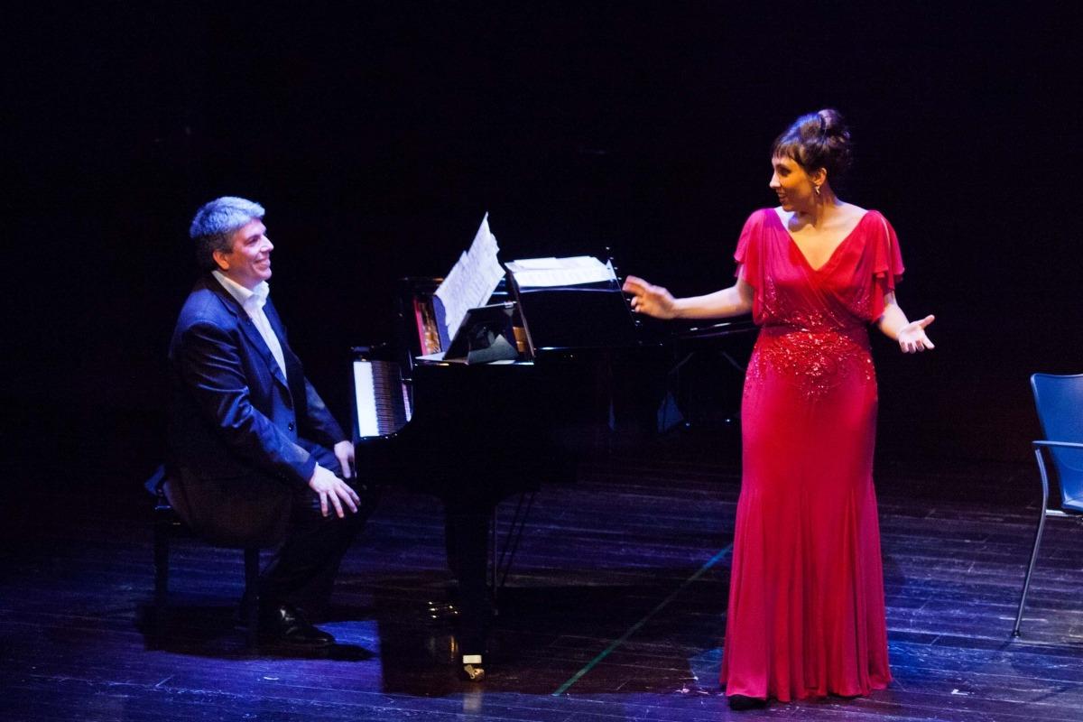 Jordi Barceló i Jonaina Salvador, a l'espectacle 'Vilíric', el febrer del 2014 a Les Fontetes.