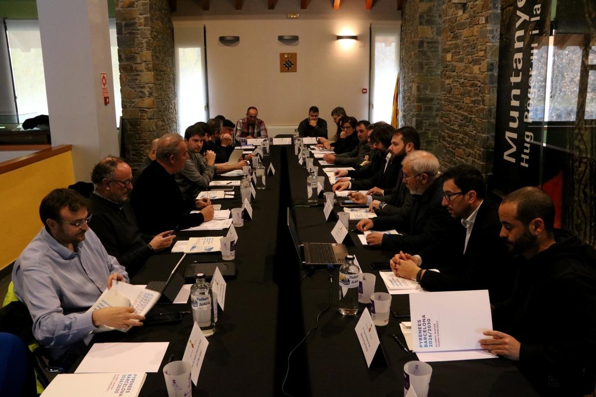 La reunió que va servir per crear la primera taula de treball pels Jocs Olímpics d'Hivern