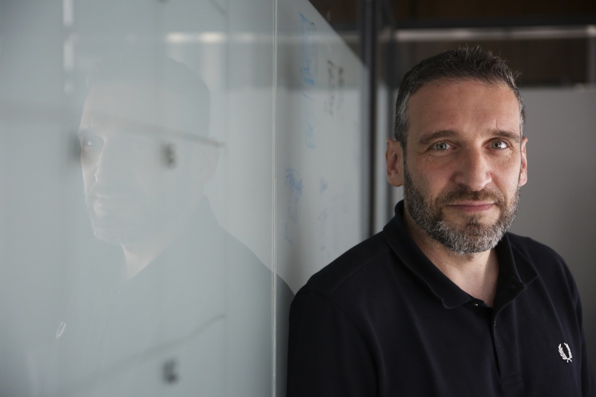 Ibon Navarro, al seu despatx al Poliesportiu d'Andorra. Foto: Facundo Santana