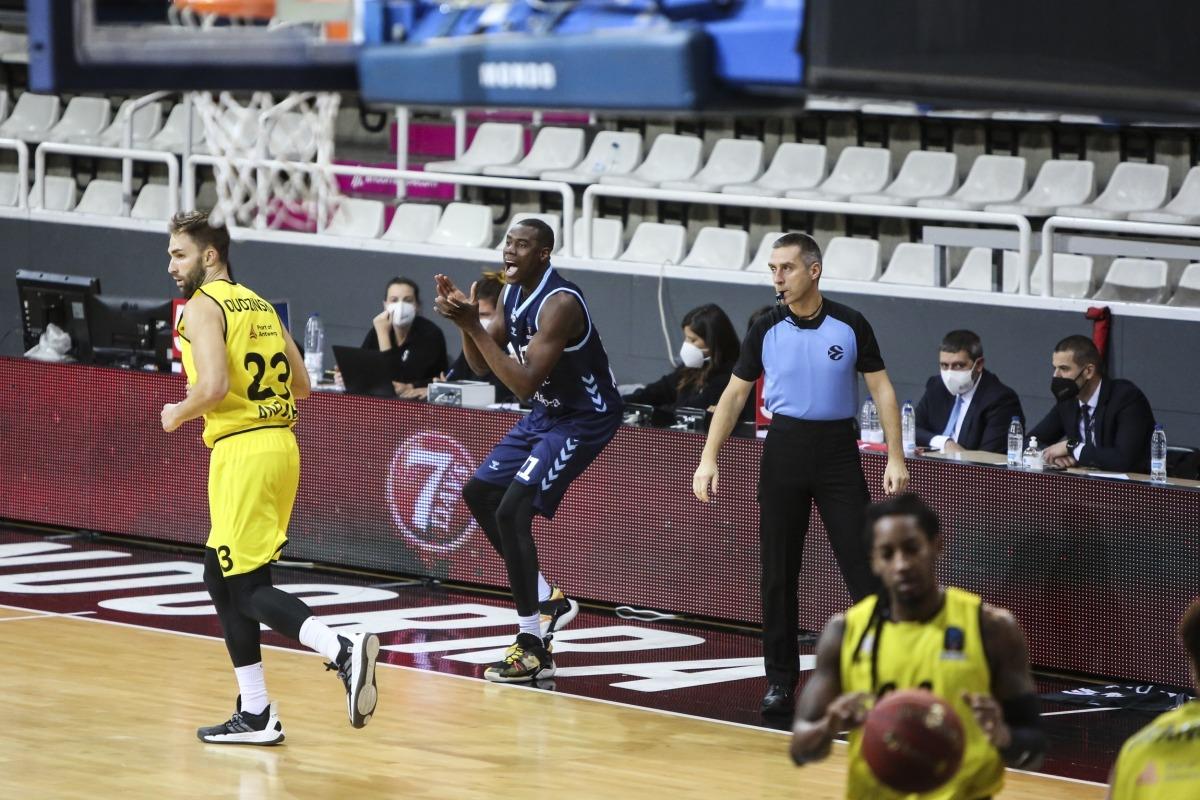 El pivot senegalès del BC MoraBanc, Moussa Diagne, va tornar a jugar vuit mesos després de patir una altra lesió.Foto: Facundo Santana