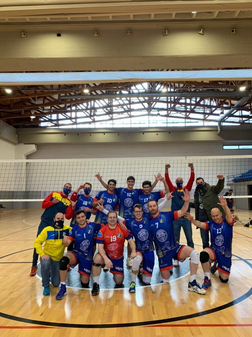 El CV Encamp va celebrar ahir al matí la salvació en vèncer el CV Monjos. Foto: CV Encamp
