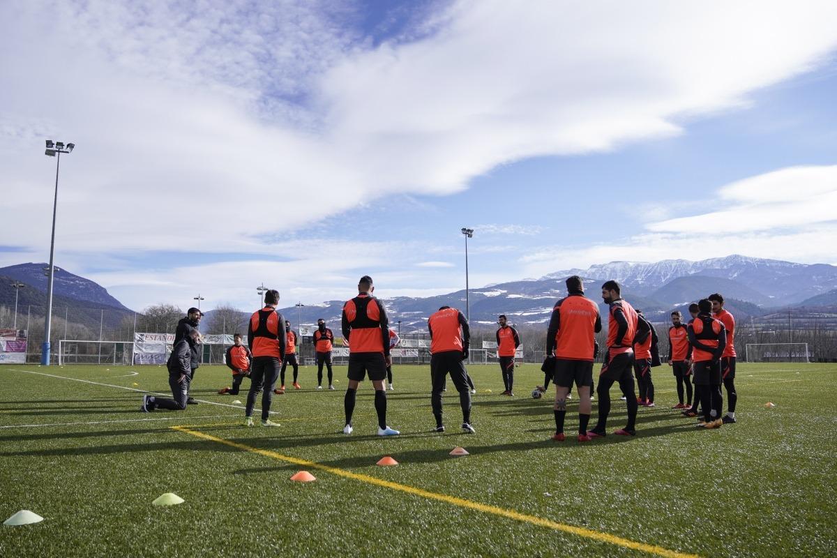 L'FC Andorra es va entrenar ahir a La Seu d'Urgell. Foto: FC Andorra