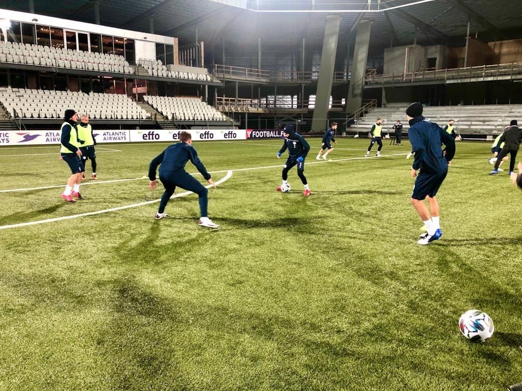 La selecció absoluta a Illes Fèroe. Foto: FAF