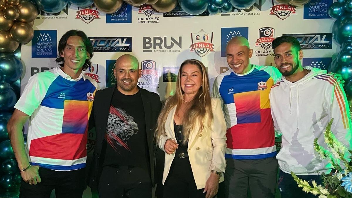 Rafa Robayo i Jonathan Estrada, els fitxatges més destacats del CE Jenlai-Galaxy. Foto: Facebook CE Jenlai-Galaxy