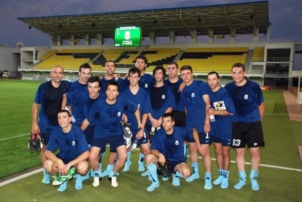 El Ranger's, el 17 de juliol del 2007, abans de jugar al dia següent l'anada a l'Stadionul Sheriff. Foto: Foto cedida per Álex Somoza