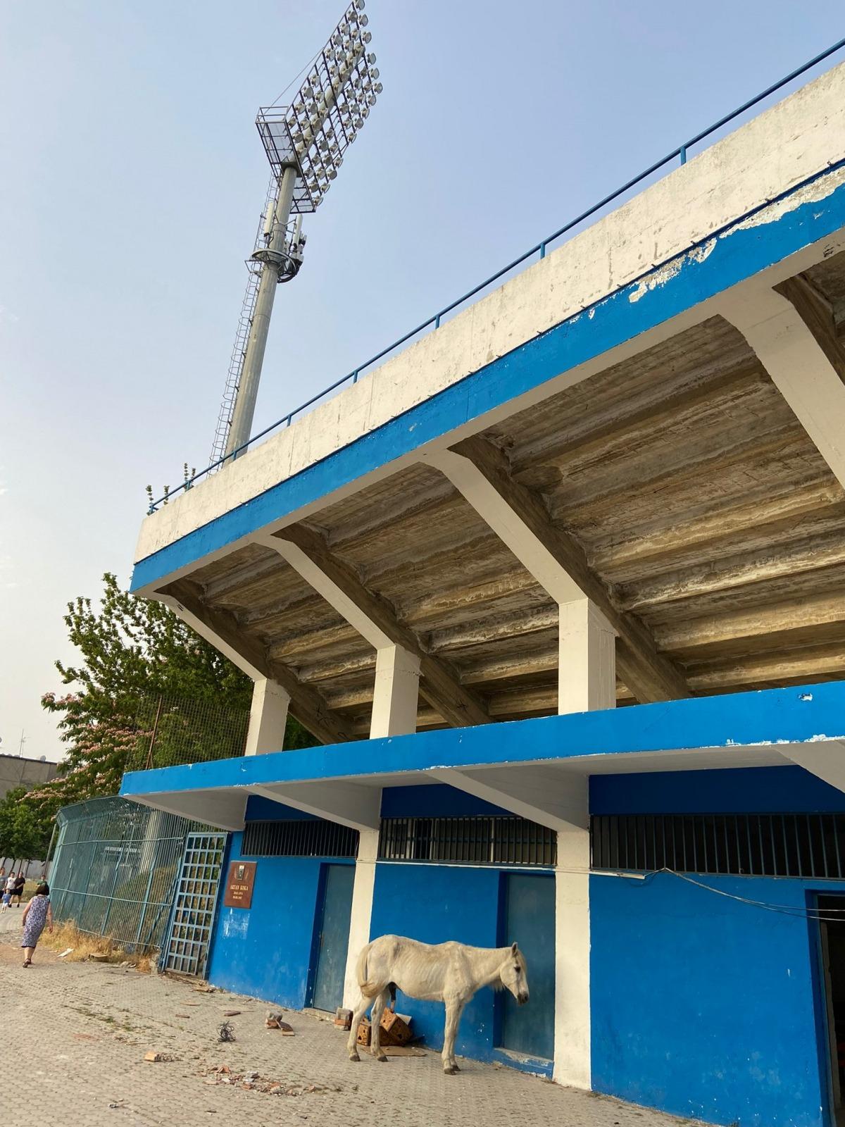 L'estadi on va disputar l'Inter el partit d'ahir contra l'HB. Foto: Twitter