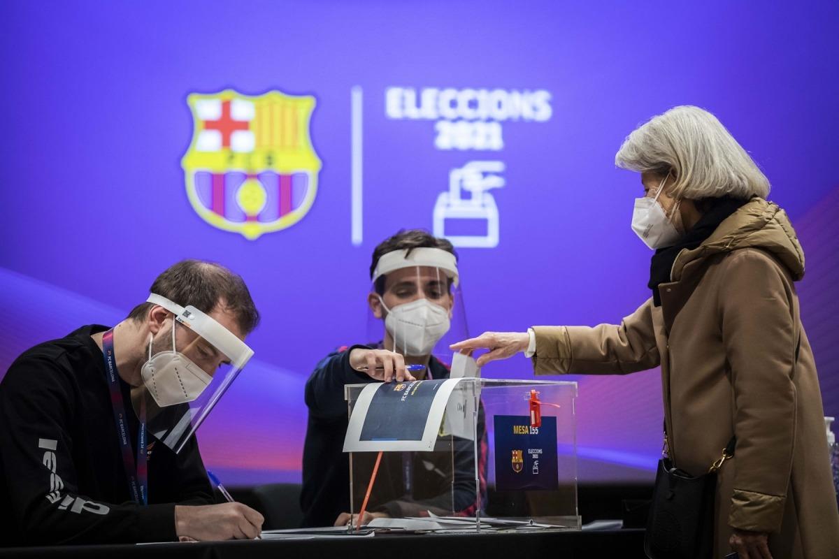 Els socis del FC Barcelona del país van votar al Centre de Congressos d'Andorra la Vella. Comú d'Andorra la Vella / Tony Lara