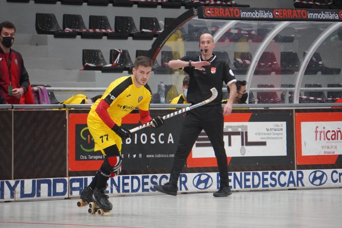 L'internacional andorrà va acabar el curs amb 2 gols en 27 partits a l'OK Lliga or d'hoquei patins. Foto: @lavidadelaperiodista