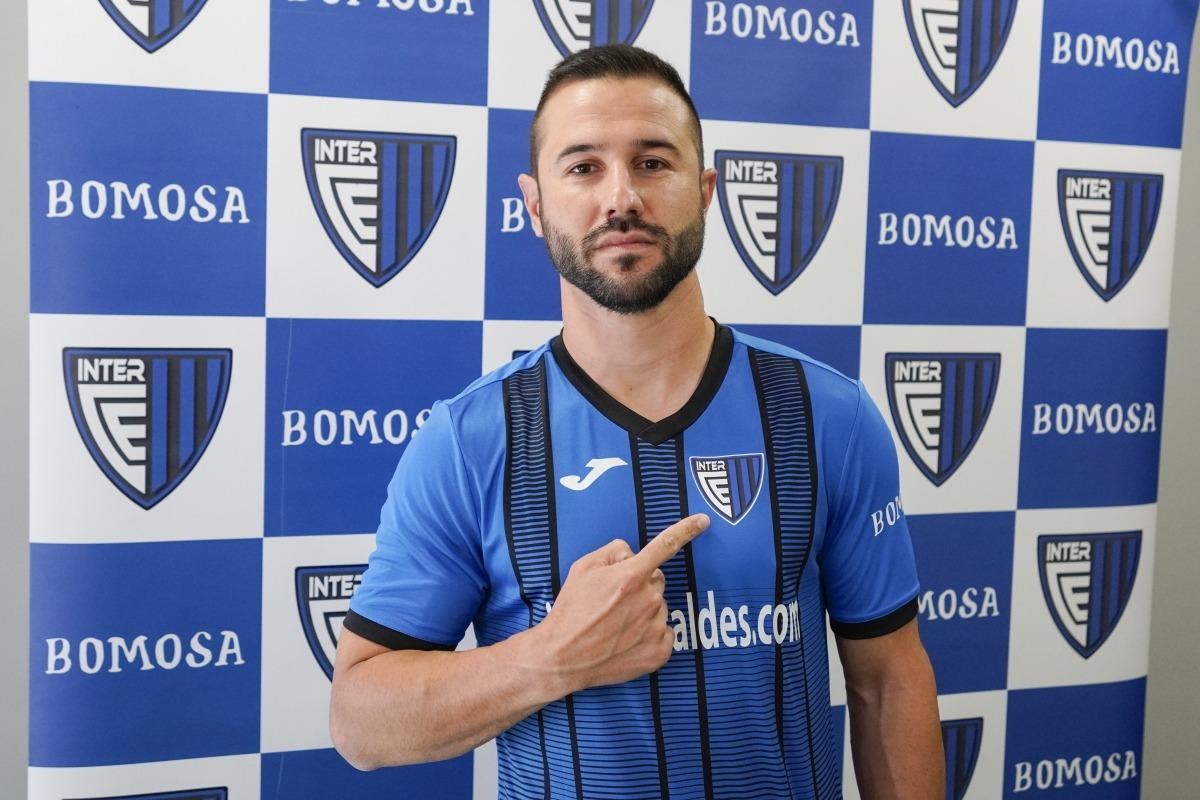 José Rodríguez, amb la seva nova samarreta de l'Inter. Foto: Interescaldes.com