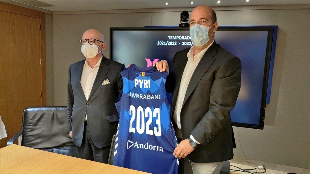 Pyrénées i el BC MoraBanc continuen units fins al 2023. Foto: Twitter BC MoraBanc