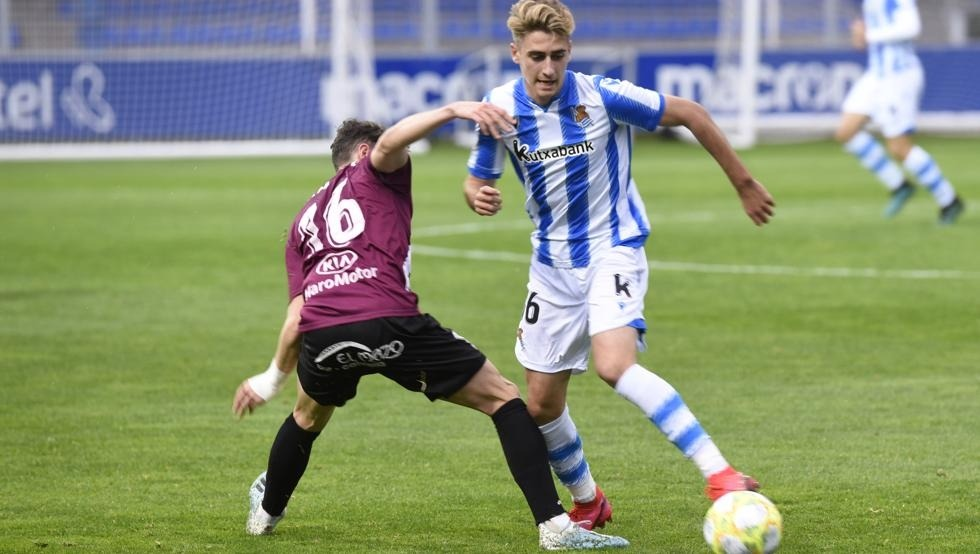Robert Navarro, que va deixar les inferiors de Can Barça per anar a Mònaco, és l'actual estrella de la Reial Societat B. Foto: Reial Societat