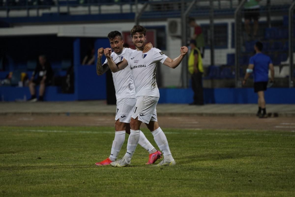 Jordi Betriu, l'extrem de Coll de Nargó de l'Inter, celebrant l'únic gol del partit. Foto: Interescaldes.com