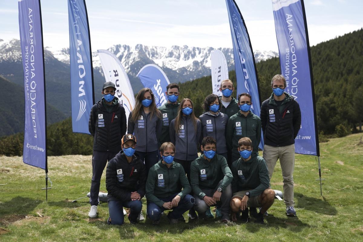 L'equip nacional de curses de muntanya de la FAM es va presentar ahir al Coll d'Ordino. Foto: Facundo Santana