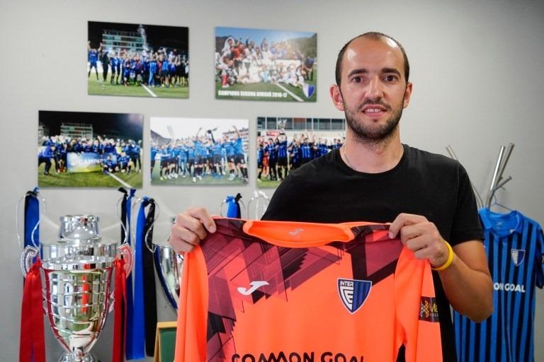 Jesús Coca amb la samarreta de l'Inter Club Escaldes.