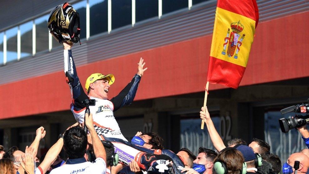 El resident Albert Arenas es va proclamar campió del món de Moto3. Foto: Twitter