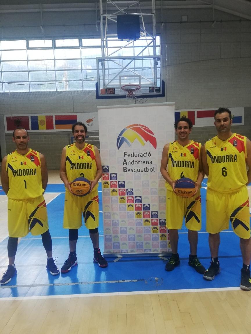 La selecció de bàsquet 3x3. Foto: FAB