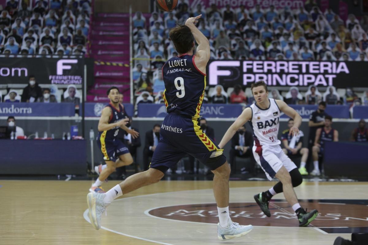 Nacho Llovet es va lesionar al genoll durant l'últim partit contra el BAXI Manresa. Foto: Facundo Santana