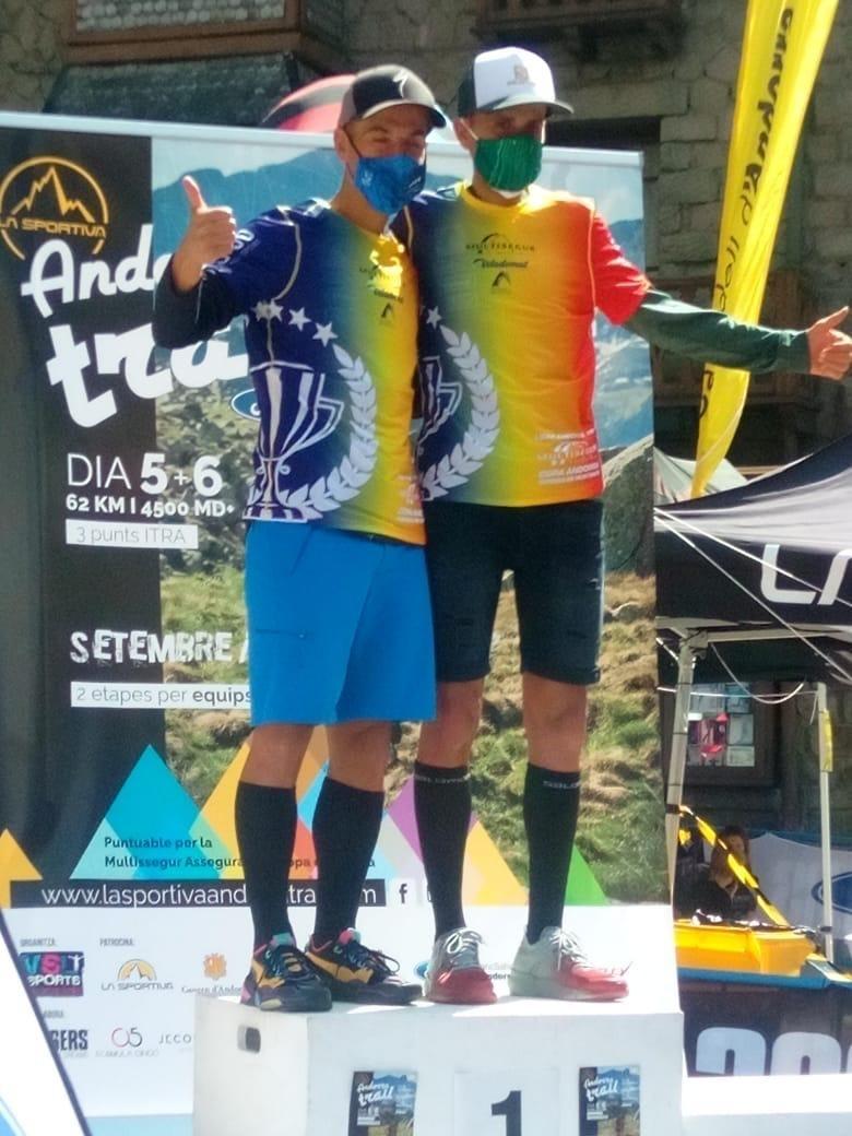 Els germans Casal, Òscar i Marc, campions de la Multisegur Copa d'Andorra. Foto: FAM