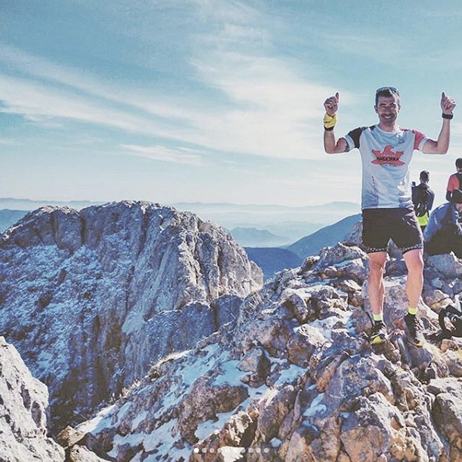 Gerard Berroya va fer cim set vegades consecutives al Pollegó Superior del Pedraforca. Foto: Instagram