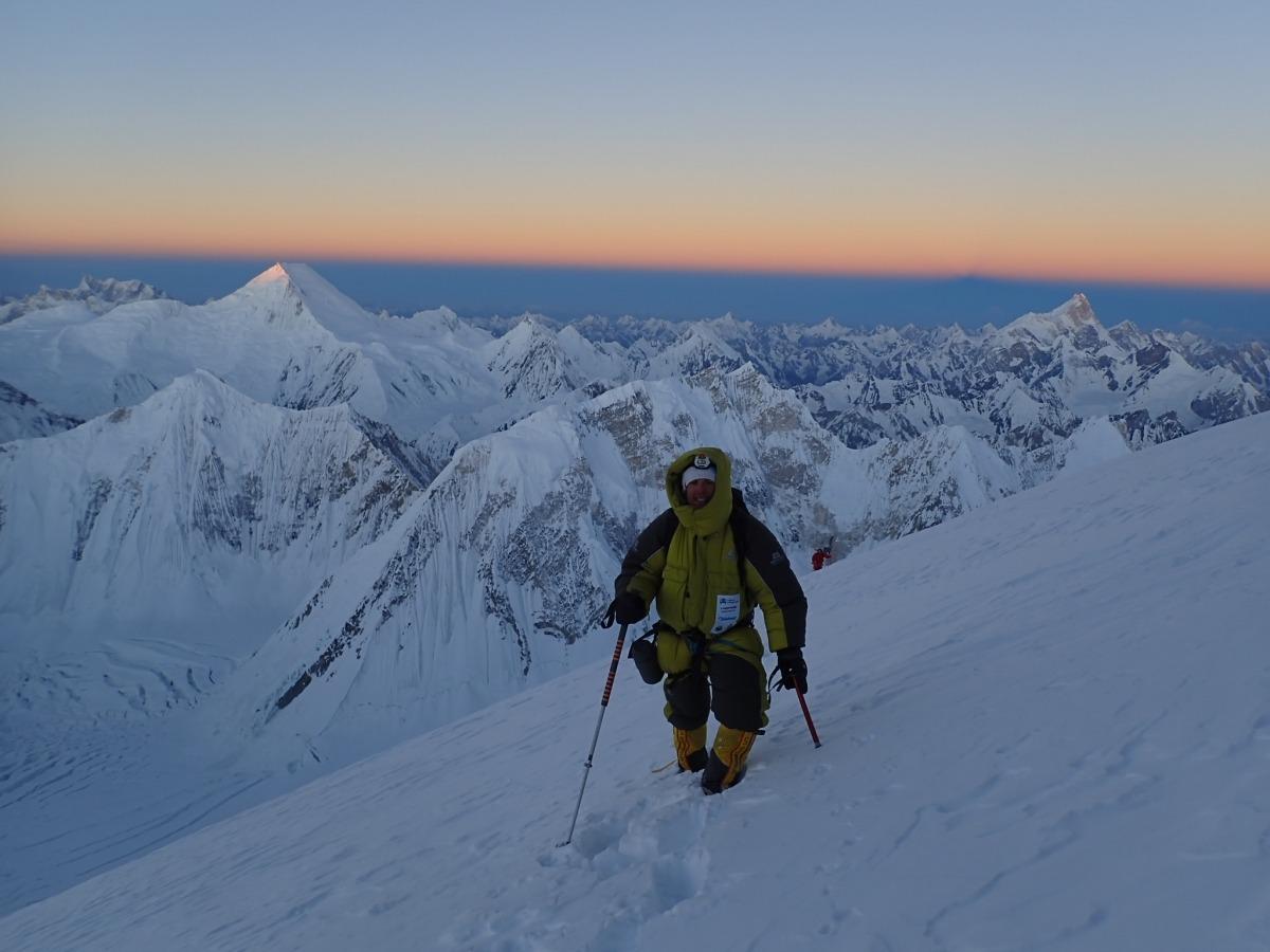 Gonzalo Fernández ja té el seu primer vuitmil després d'ascendir al Gasherbrum II (8.035 metres), una experiència que mai oblidarà. Foto: Foto cedida per Gonzalo Fernández