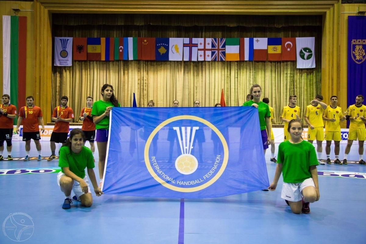 La selecció absoluta d'handbol va jugar l'últim torneig internacional a Bulgària. Foto: Federació d'Handbol de Bulgària