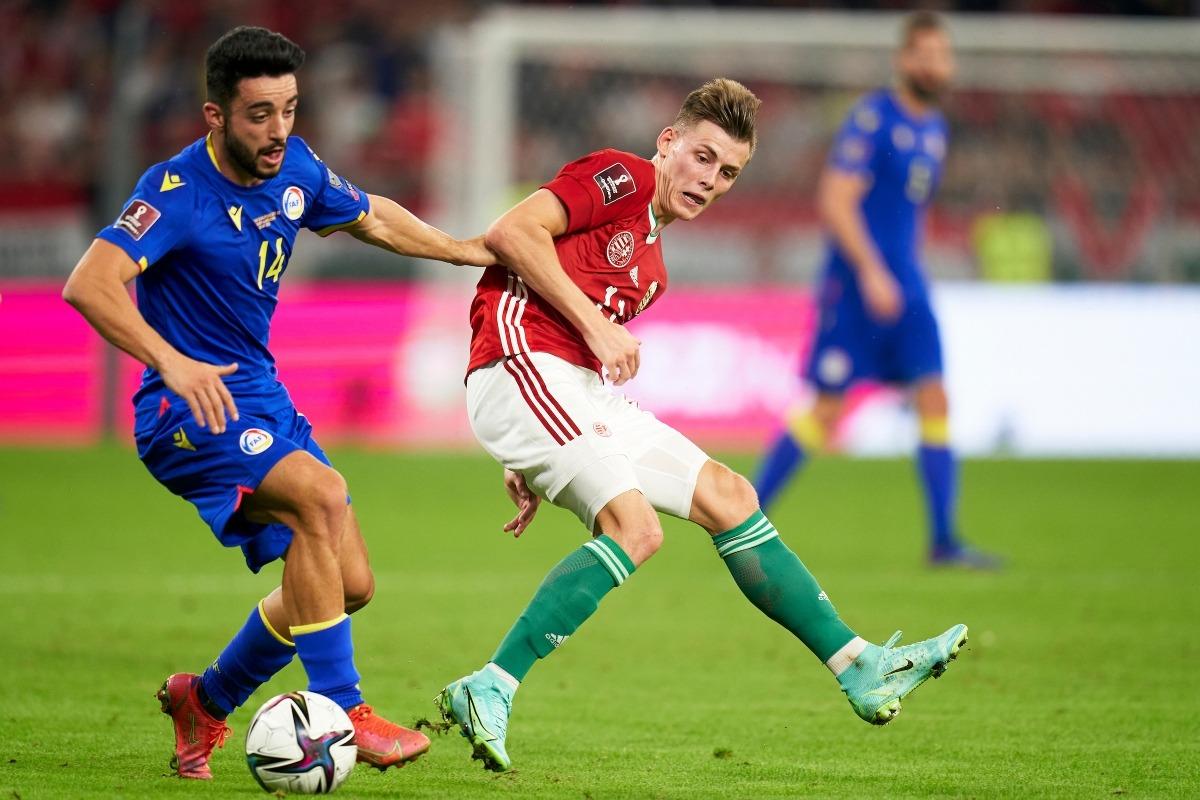 Jordi Aláez va ser un autèntic malson per a la defensa d'Hongria i amb 'Cucu' va protagonitzar la jugada del gol anul·lat pel VAR.Foto: FAF / Pedro Salado